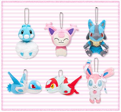 Pokémon Petit(ポケモンプチ) チルタリス、エネコ、ルカリオ、ラティアス、ラティオス、ニンフィア マスコット
