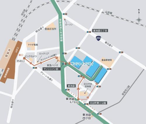 ポケモンセンターメガトウキョー 地図