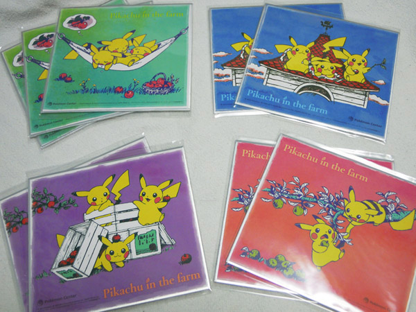 Pikachu in the farm ピカチュウのアート色紙