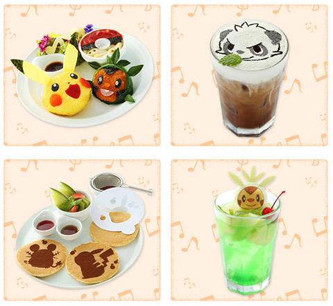 ピカチュウとポケモンおんがくたいカフェ by Sweets Paradise メニュー