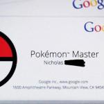 Googleからポケモンマスターに名前入りの名刺風カードが届けられているようです